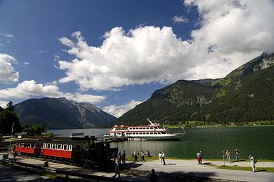 Der Achensee als beliebtes Ausflugsziel im Sommer